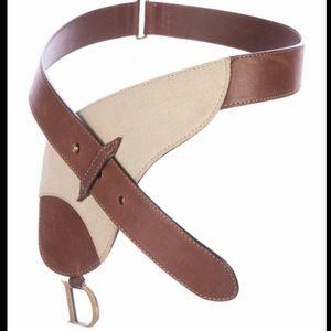 CHRISTIAN DIOR Leather&Canvas Bum Bag!!! AUTHENTIC